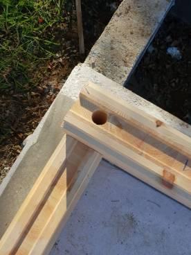 La qualité du bois Kontio et l'espace pour l'isolation extérieure