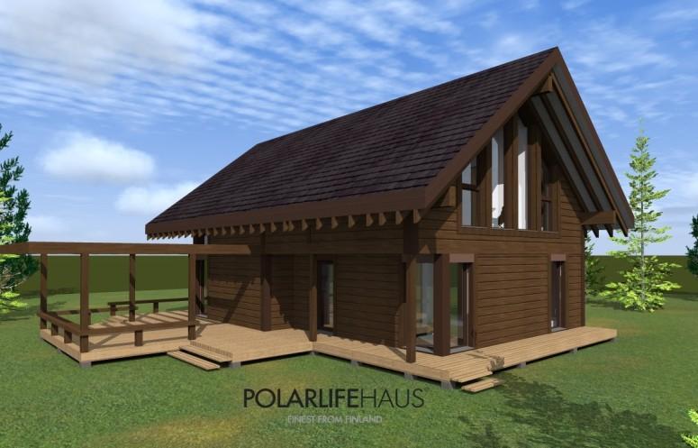 maison bois à Aucun - Polarlifehaus - face arrière